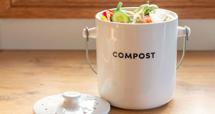 kitchen compost caddy