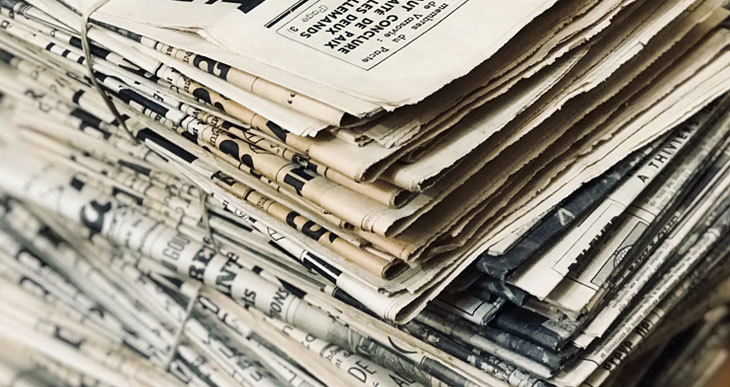newspapers as a source of brown compost