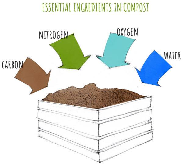 the four basic elements for compost