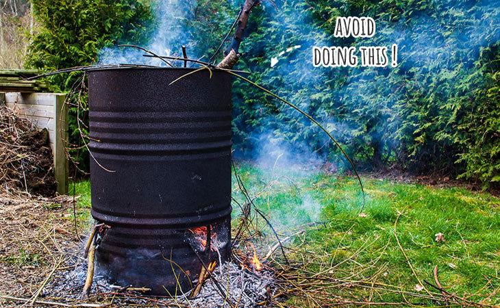 composting vs burning yard waste