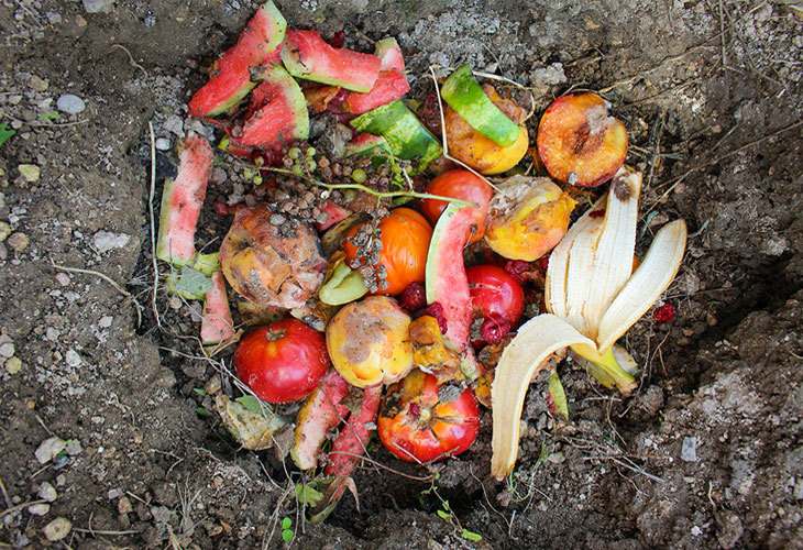 pit composting kitchen scraps